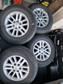 Genuine Toyota Hilux Invincible Alloys with tires