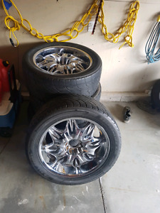 22inch rims for sale 700$