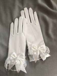 White Mesh Gloves - Wedding/Bridal/Special Occasion