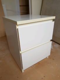 IKEA two drawer bedside drawers