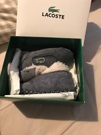 Lacoste baby slippers/shoes