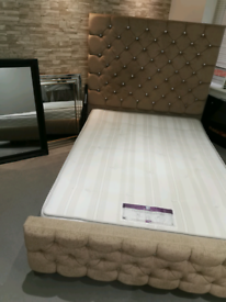 Fabric double frame bed