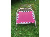 Pink girls trampoline