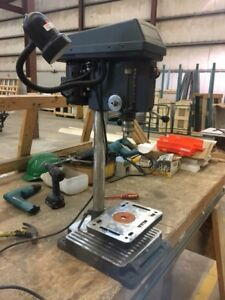 "1/2"" variable speed drill press with light"