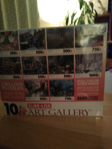 TCG 10 Sure-Lox Art Gallery Deluxe Puzzles