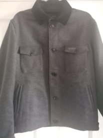 Barbour Bomber Jacket Medium Grey / Black