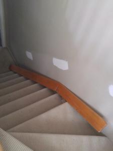 Rampe d'escalier en chêne