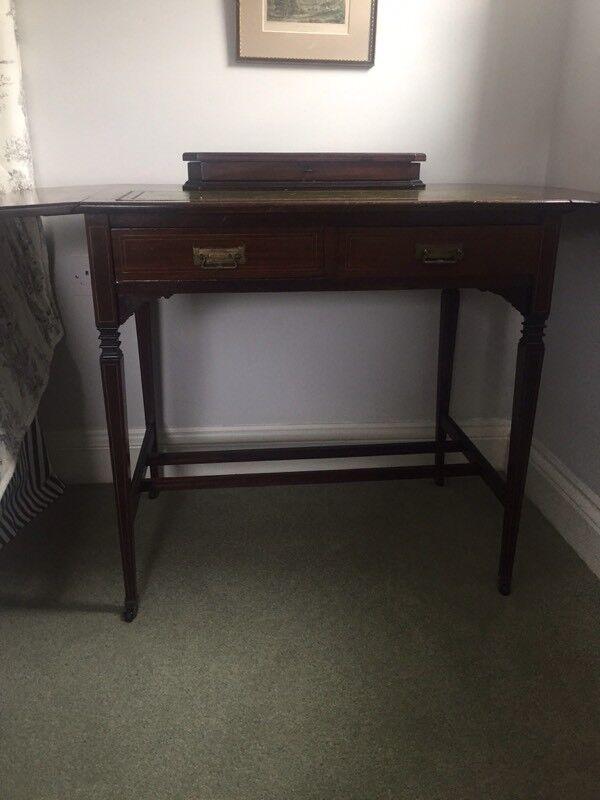 Antique Las Writing Campaign Desk