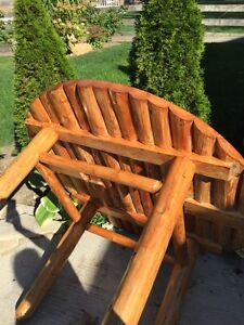 Natural wood rustic dinning table 6 chair  Stratford Kitchener Area image 6