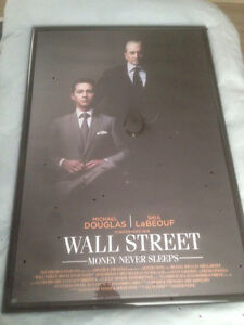 Wall Poster frame with Wall Street 2 Money Never Sleeps Poster