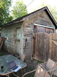 Antique Lumber from Old Garage