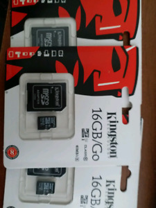 Class 10   16g brand new Kingston micro sd