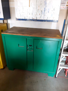 GreenLee mobile work bench cabinet