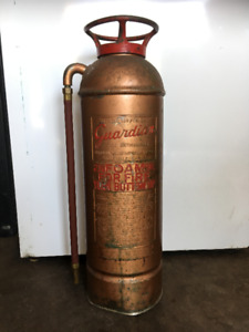 Antique Brass Guardian Fire Extinguisher
