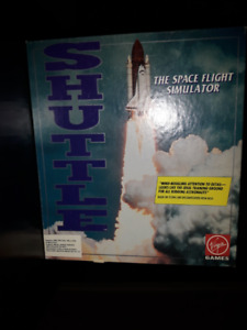"""Vintage 1991 5.25""""PC Game Dos Shuttle The Space Flight Simulator"""