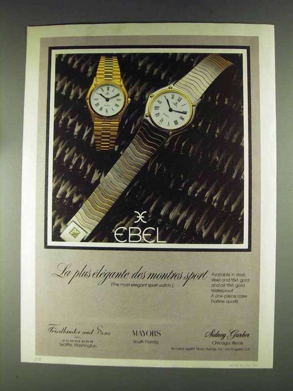 1979 Ebel Flatline Quartz Watch Ad