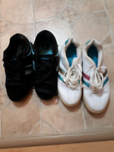 Two pairs of ladies sneakers size 5 just like new