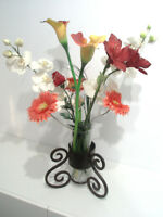 HAND MADE FLOWER, CANDLE, VASE HOLDER - HEAVY
