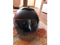 Crash helmet - size small - open face - Black Nolan N43E