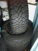 """Snow Tracker Pace Mark Tires 205 55 16 0n Rims 5 x 4.00 """" TOYOTA"""