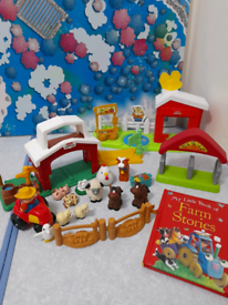 Fisher Price Little People Farm Playset with Book