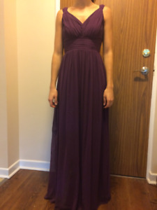 Beautiful Aubergine bridesmaid dress - $100