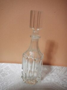Crystal clear glass perfume bottle France