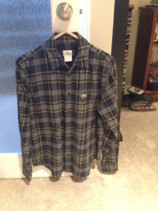 Mens LaCoste Flannel Shirt