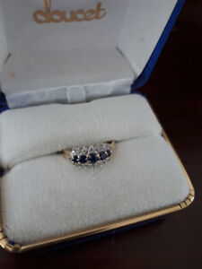 Bague 10 carats Diamants et Saphirs Longueuil