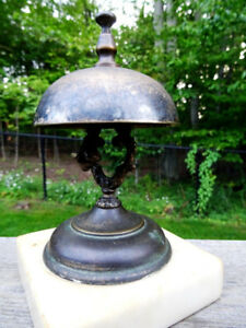 VICTORIAN mid-late 1800s HOTEL CALL DESK BELL original FAB RING