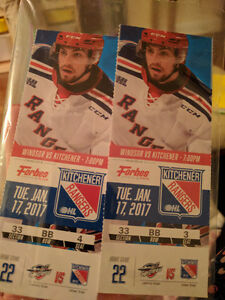 Kitchener Rangers - 2 tickets - Tues. Jan. 17th @ 7pm