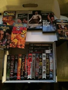 Lot of 22 wwf/wwe and wcw vhs movies