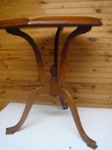 Antique Solid Wood Occasional Hexagon Table