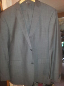 Zanetti Designer Suit Silk And Wool Made In Italy