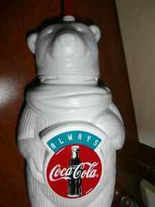 COCA COLA POLAR BEAR CUP WITH STRAW