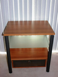 TV Stand  Wood Glass and Grey Metal TV stand