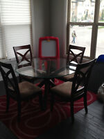 Round Glass Top Dining Set- $200 OBO