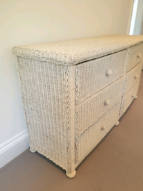 John Lewis quality Wicker Double Width Chest of Drawers
