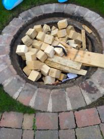 Free fire wood blocks timber fuel