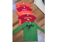 4 BOYS ABERCROMBIE KIDS T-SHIRTS & 1 LONG SLEEVE TOP SIZE LARGE
