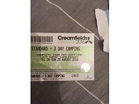 Creamfields weekend camping ticket