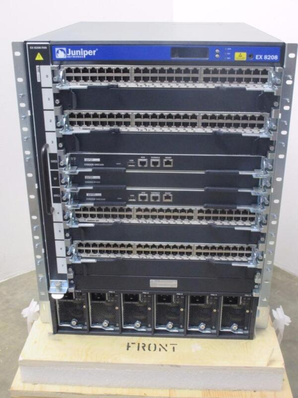 Juniper Networks Ethernet Switch Chassis W/Line Cards NEW!!!!! EX8208