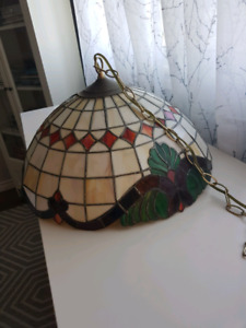Leaded glass stained lampshade.
