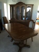 Dining room table and matching China cabinet