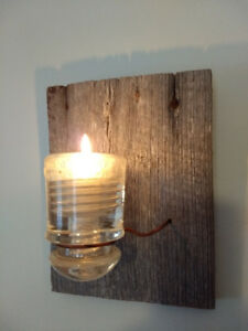 Barnwood wall sconce / candle holder