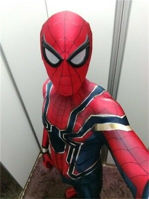 Iron Spider-Man Cosplay Costume Spiderman Zentai Suit Halloween For Adult & Kids