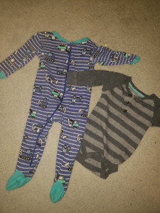 12 month baby boy sleeper and onsie
