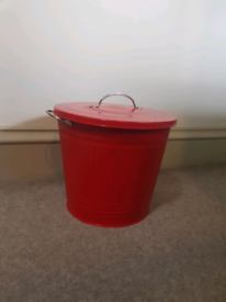 Small red bin for storage as new condition