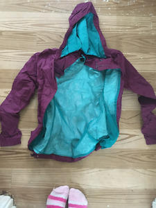 North Face Lined Rain Jacket