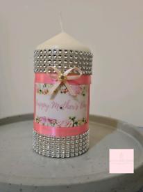 Mothers day medium pillar candle